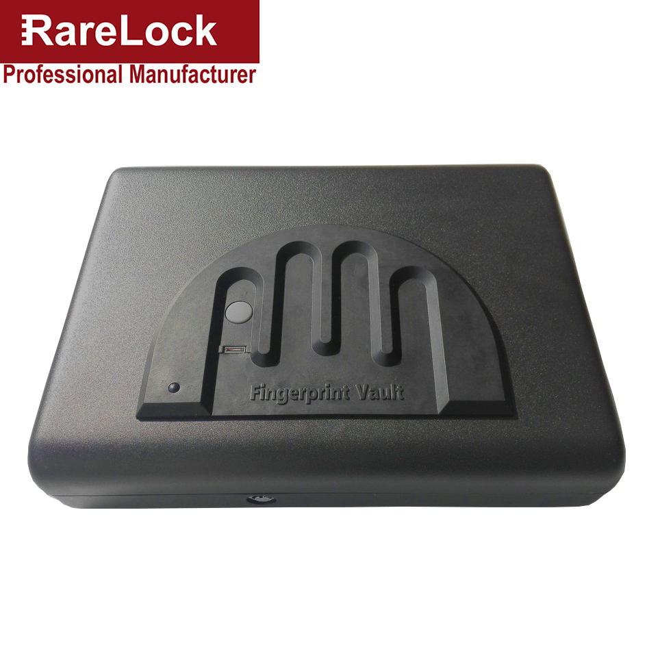 Rarelock Jewelry Box,Safe Box,Card Holder Solid Steel Key Gun Vault Valuables Box Cable Portable Bio-box Code Lock f beverley box beverley box be064ameym64