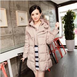 Plus Size New 2013 Winter White Duck Down Jacket Women Middle-Long Ladies Down Coat Parkas For Women Winter Free Shipping B1619