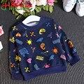 Chifave 2016 Nova Outono Meninas Camisola Crianças Meninas de Manga Comprida T-shirt Pullover Impressão Roupas Crianças Das Meninas De Roupas