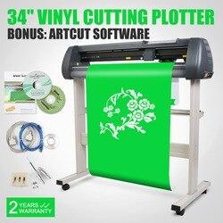 34 inch 870mm Vinyl Cutter Sign Cutting Plotter W/Artcut Software Design/Cut USB Port