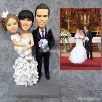 Creative gifts custom family 3 persion with dog figurine home decor decoration birthday cake anniversary wedding souvenir gift