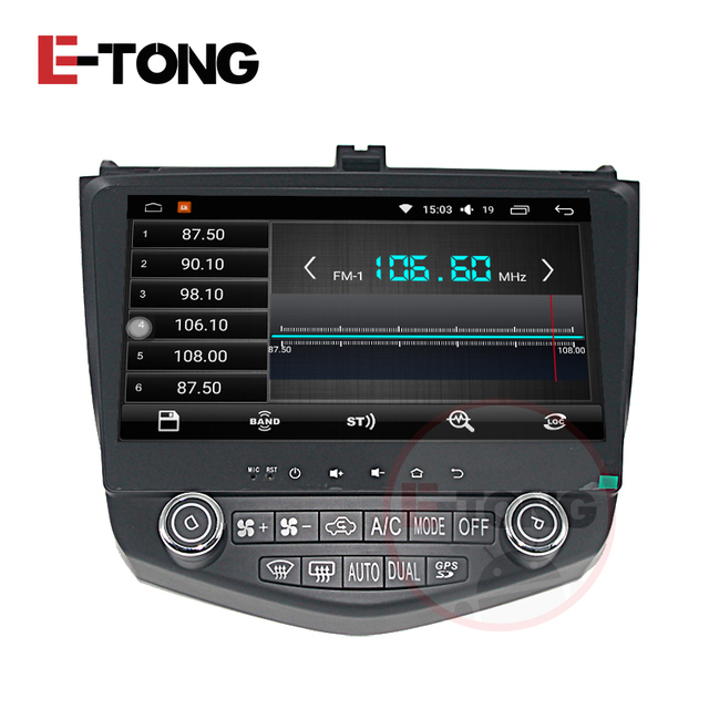 10 1 Android 5 Car Stereo For Honda Accord 7 2003 2007 2004 2005 2006 Gps Navigation Bluetooth Steering Wheel Map