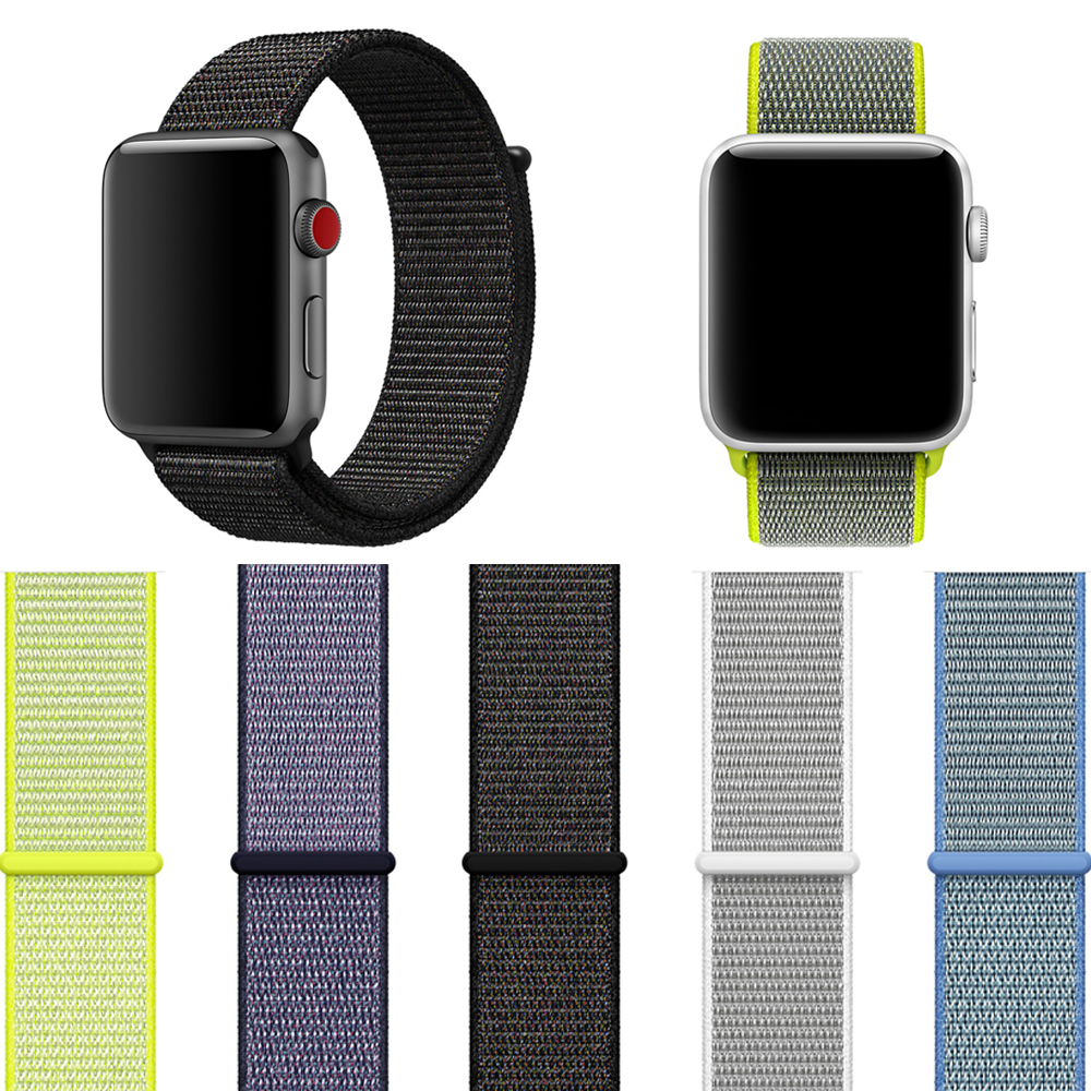 Woven Nylon Sport Loop band for Apple watch series 42mm 38mm strap watchband for iWatch bands