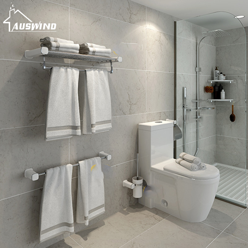 Wall Mounted Modern Bathroom Hardware Set 304 Stainless Steel Bath Bathroom Accessories Set Painting Design Bathroom Decoration