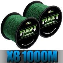 Ascon Balık Ultra Güçlü 8 Iplikçik Örgülü olta 1000 m 1094 yd 8 Örgüler Multifilament Hattı Yeşil 50 LB 80 LB 100 LB 300 LB