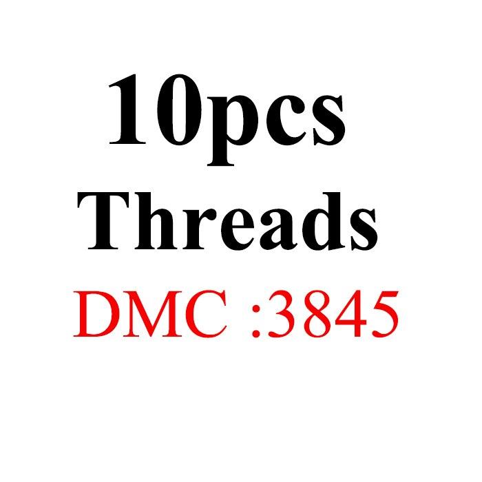 Snowlover, рукоделие, 10 шт./лот, 1,2 м, разные цвета, DMC3824-3848, вышивка крестиком, хлопковое шитье, моток пряжи, нить для вышивки - Цвет: 1.2mthread-DMC3845