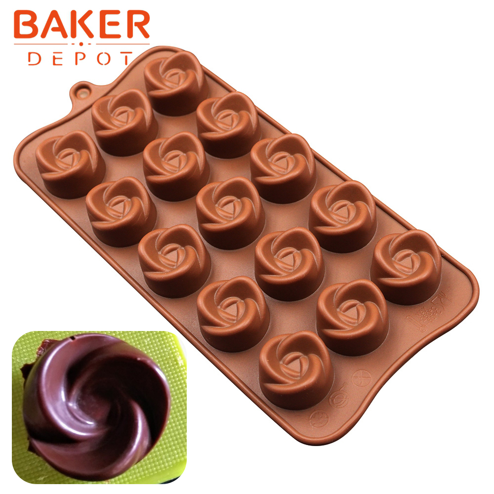 UK Rose Flowers Silicone Cake Chocolate Candy Pastry Soap Ice Cube Tray DIY Mold