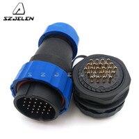 SD28TP ZM  24 pins wasserdichten stecker  Power draht anschlüsse  kabel anschlüsse  automotive stecker  24 pin Stecker und buchse-in Steckverbinder aus Licht & Beleuchtung bei