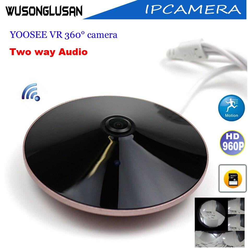 CCTV Panoramic Wifi Ip Camera Outdoor Yoosee 360 Degree Fisheye 960P CMOS Sensor Support P2P Onvif SD Card P2P Home Smart Camera