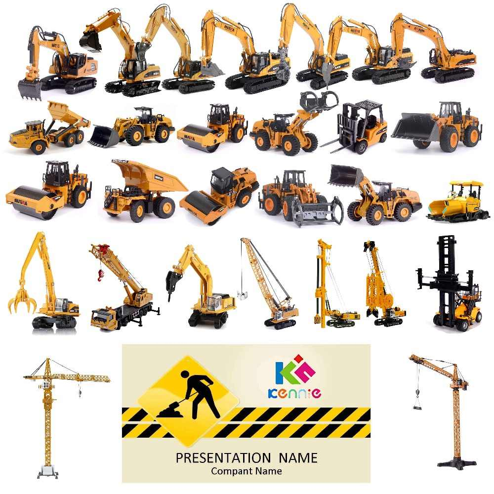 High simulation alloy Excavators road rollers gondola cars cranes lawn mowers earth-moving vehicles cranes toys for children