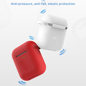 Image 5 - Solid Color Silicone Case for Airpods 2 Cute Protective Earphone Cover for Apple Airpods 2 Wireless Charging Box Shockproof Case