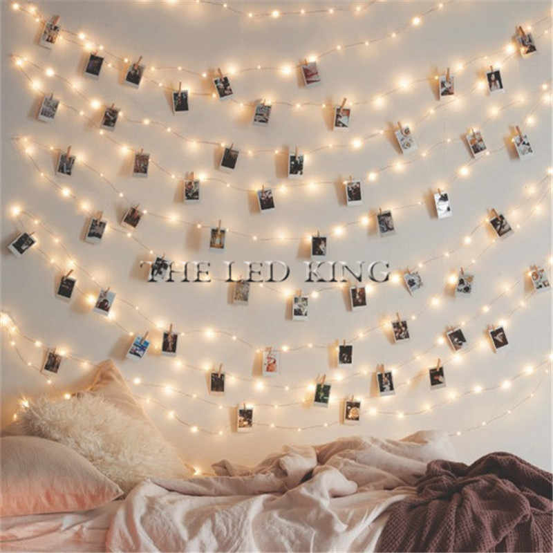 2M 5M 10M Photo Clip Holder LED String lights For Christmas New Year Party Wedding Home Decoration Fairy lights
