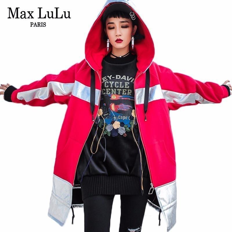 Rompevientos Chaqueta Marca Lujo Calle Lulu Abrigo Nieve Mujer Piel Invierno rojo Mujeres Cuero Negro Con Capucha Max De Niñas Ropa Coreana txn0APBwB