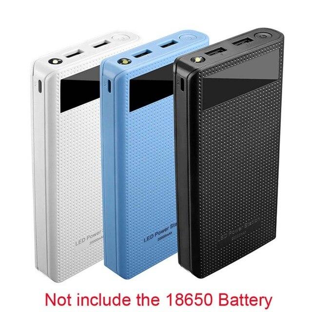 デュアル USB 7 × 18650 バッテリー DIY 電源銀行ボックスホルダー携帯電話タブレット PC