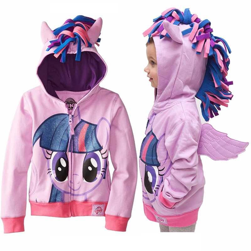 Spring 2018 Girls hoodies My Little Poli Kids Sweatshirt Jackets Baby Hoodie Cute Pony Style Windbreaker Sport Blazer Outerwear 2018 autunm warm sweatshirt parka folk custom print hoodies cotton women crop top hoodie moleton feminino dropshipping ag 15