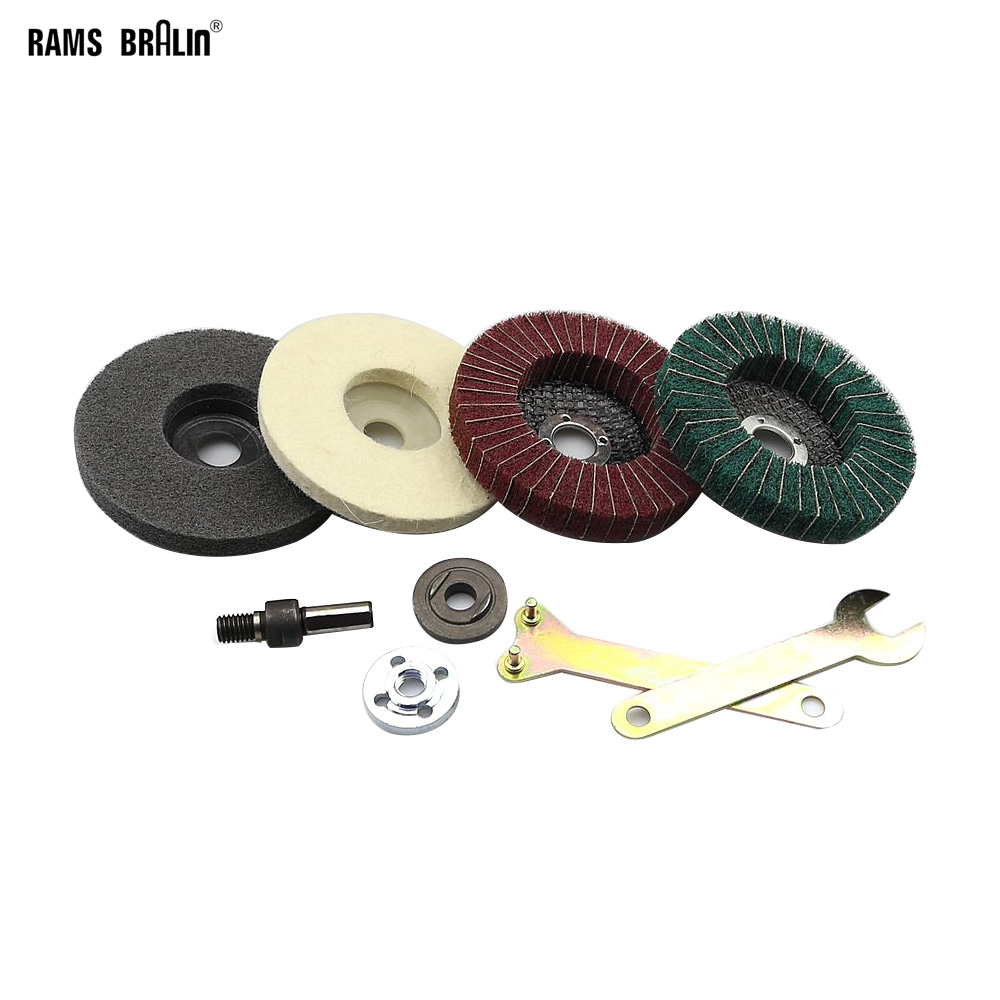 Stainless Steel Aluminium Grinding Polishing Kit fit for Drill DIY Angle Grinder Bulgarian Flap Disc-in Abrasive Tools from Tools