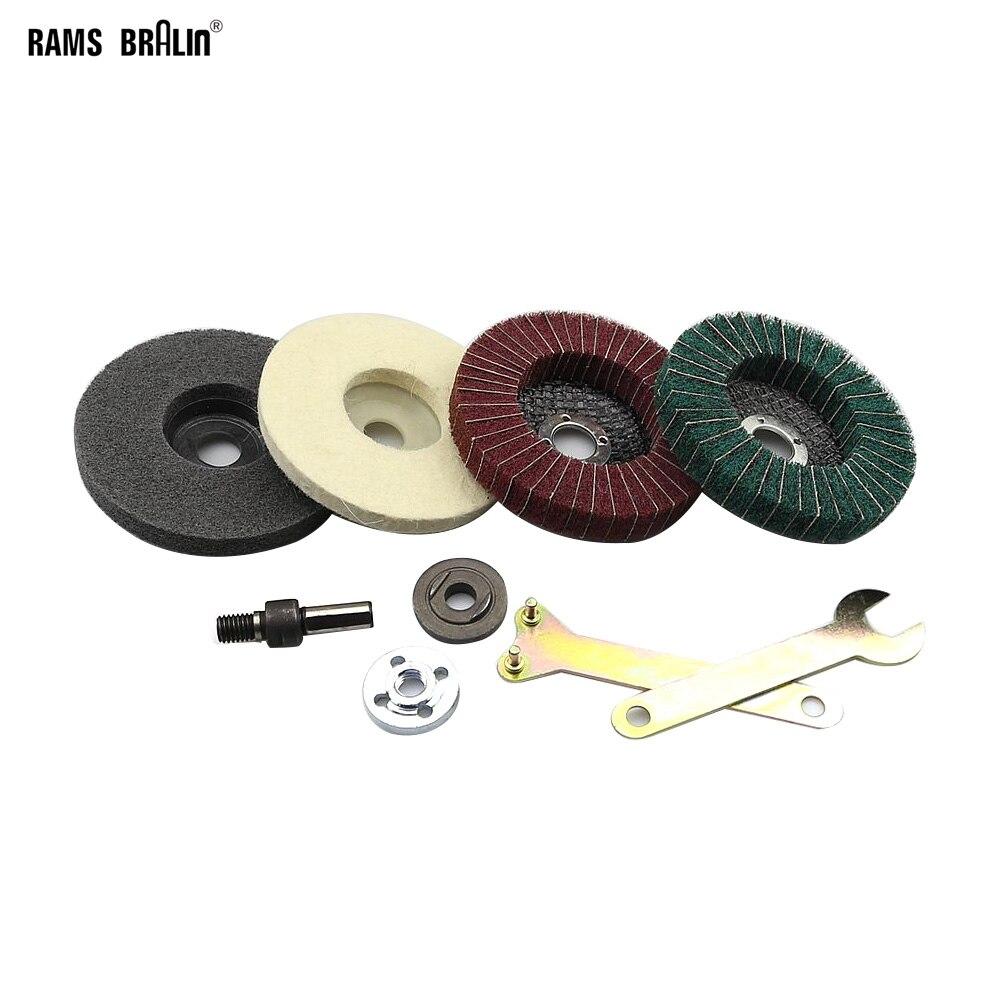 цена на Stainless Steel Aluminium Grinding Polishing Set DIY Angle Grinder Flap Disc for Drill Power Tool