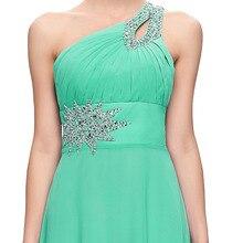 Long Chiffon Bridesmaid Dresses One Shoulder Beading Royal Blue Purple Red Pink Cheap Bridesmaid Dress Gown 2949