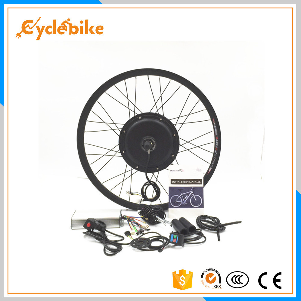 Front or rear motor 65km/h 48v 1500w Electric bike conversion kit for 20 24 26 28 700c pasion e bike 28 road bike utility bicycle electric conversion kit 48v 1500w rear wheel motor 7 speed freewheel sensor brake