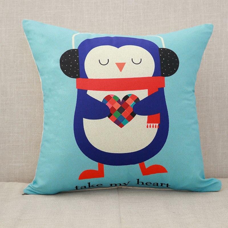 Милый мультяшный Чехол на подушку, слон, кошка, декоративный Чехол на подушку, с рисунком жирафа, Чехол на подушку для дивана, funda cojin kussenhoes - Цвет: 8