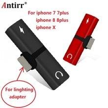 For iphone 7 Audio Adapter Splitter Double Jack Headphone Earphone Charging/Audio/Calling X 8 plus IOS 11.2