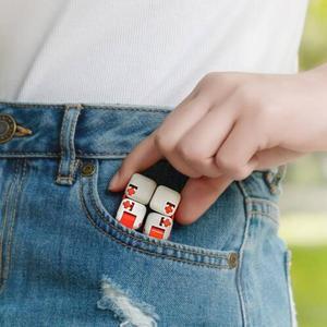 Image 5 - XiaoMi bloques de construcción Mitu Finger Bricks Mi, Spinner de dedo Original, regalo para niños, construcción portátil de seguridad, Mini juguetes inteligentes