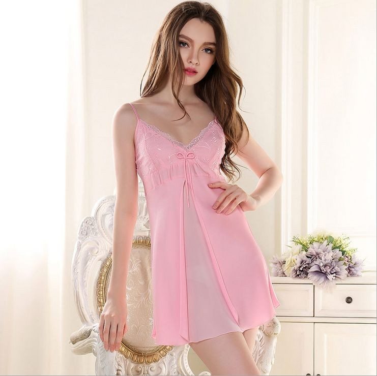 67c223b21b Sexy Silk Slip Dress Women s Solid Color Kimono Sleeveless V Neck ...