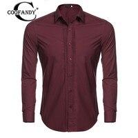 COOFANDY Man Shirts Long Sleeve Cotton Men S Turn Down Collar Long Sleeve Solid Dress Shirt