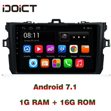 IDOICT Android 7,1 dvd-плеер автомобиля gps навигации мультимедиа для Toyota Corolla 2006-2013 WI-FI радио Bluetooth RDS