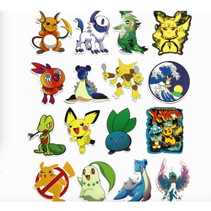 45 قطعة/المجموعة لعبة البوكيمون الذهاب بيكاتشو ملصق تأثيري الدعامة اكسسوارات Bulbasaur PVC صائق للماء الكرتون جمع ملصقات