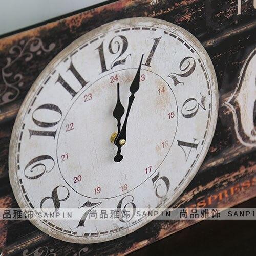 Retro bingkai lukisan ruang tamu Bergaya Eropa jam dinding mural lukisan  dekoratif kayu panel painted Amerika 8c21a9758c