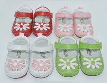 baby shoes genuine leather newborn white green pink girls infant shoes prewalkers crib shoes nonslip daisy mary jane rubber sole недорого