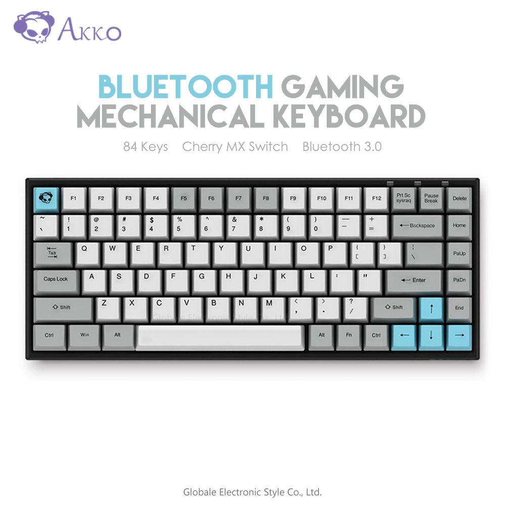 Original AKKO 3084 - Silent Mechanical Keyboard Wireless Bluetooth Computer Gamer 84 Keys ducky one cherry mx red
