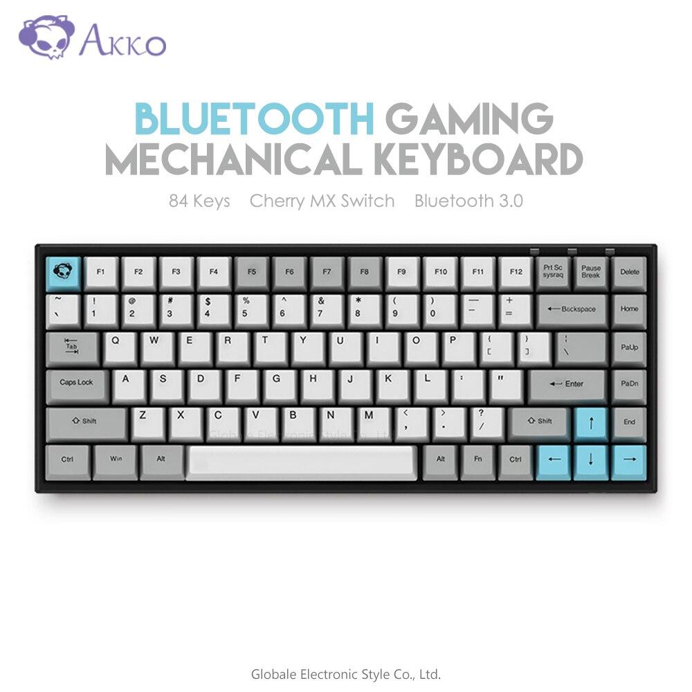 Original AKKO 3084-Silencioso Teclado Mecânico Sem Fio Bluetooth Computador Gamer 84 Chaves