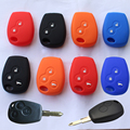 2016 New Car Styling Silicone 2 and 3 button Key Cover For  Renault Koleos Logan Fluence Kangoo Scenic Latitude Megane Hatchback