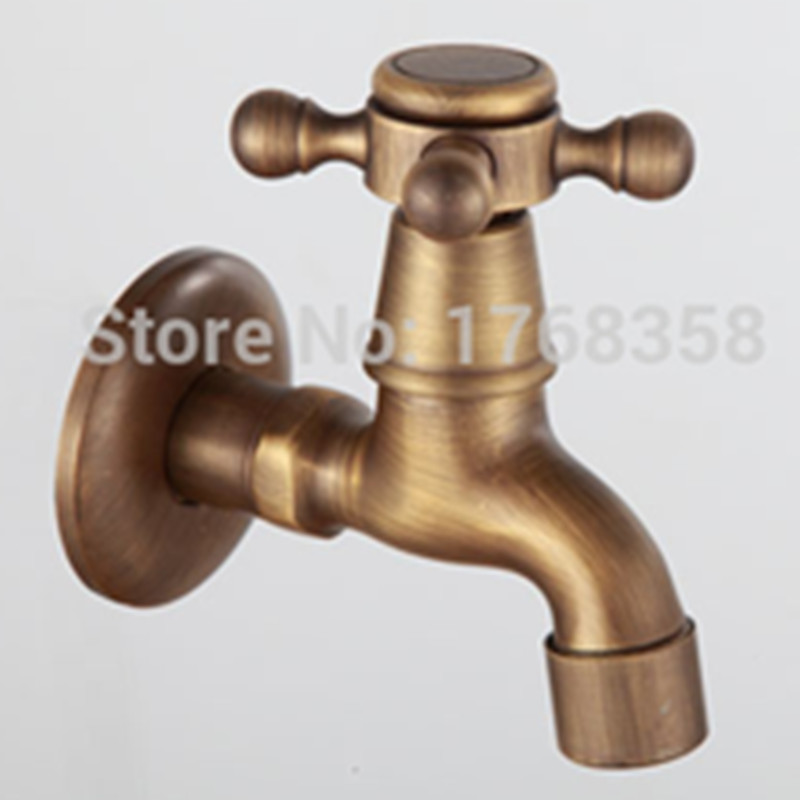 Antique Brass Wall mounted Bathroom faucet washing machine tap single coldAntique Brass Wall mounted Bathroom faucet washing machine tap single cold