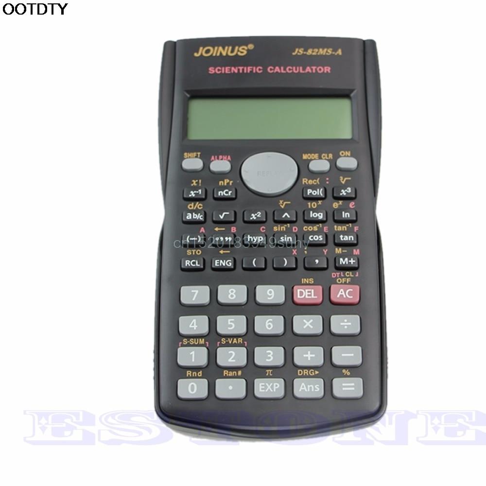 82MS A Handheld Multi function Display 2 Line Digital LCD Scientific Calculator L059 new hot