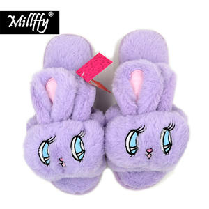 Millffy Summer velvet big bunny rabbit indoor home slippers