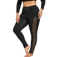 Plus Size 5XL Lace Skinny Pants Women Fashion
