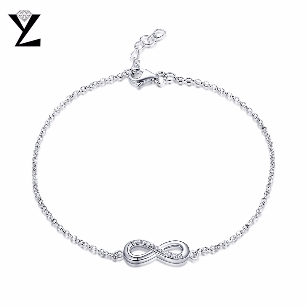 yl infinity love 925 sterling silver bracelets for women