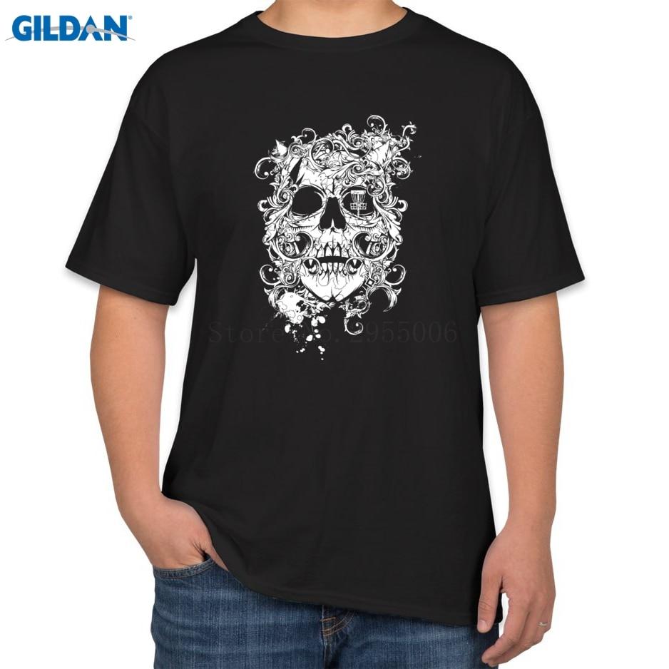 Danny zuko black t shirt - Fancy Skull T Shirt Unisex Pre Cotton Tshirts Big Size Big Sizes Tops Tees Top