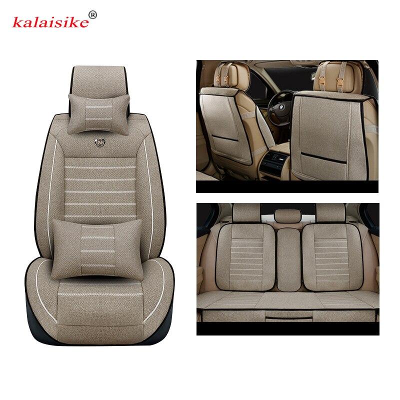 Kalaisike Linen Universal Car Seat covers for Luxgen all models Luxgen 5 7SUV 6SUV U5 SUV car styling accessories auto cushion свитшот ea7 ea7 ea002emzuf67