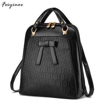 Ladies backpack Bag shoulder Girls Backpack bag - school Bag PU leather backpack 1