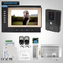 HOMSECUR 7″ Video Door Entry Security Intercom+Black Camera 1C1M for Apartment : TC011-B Camera(Black)+TM701R-B Monitor(Black)