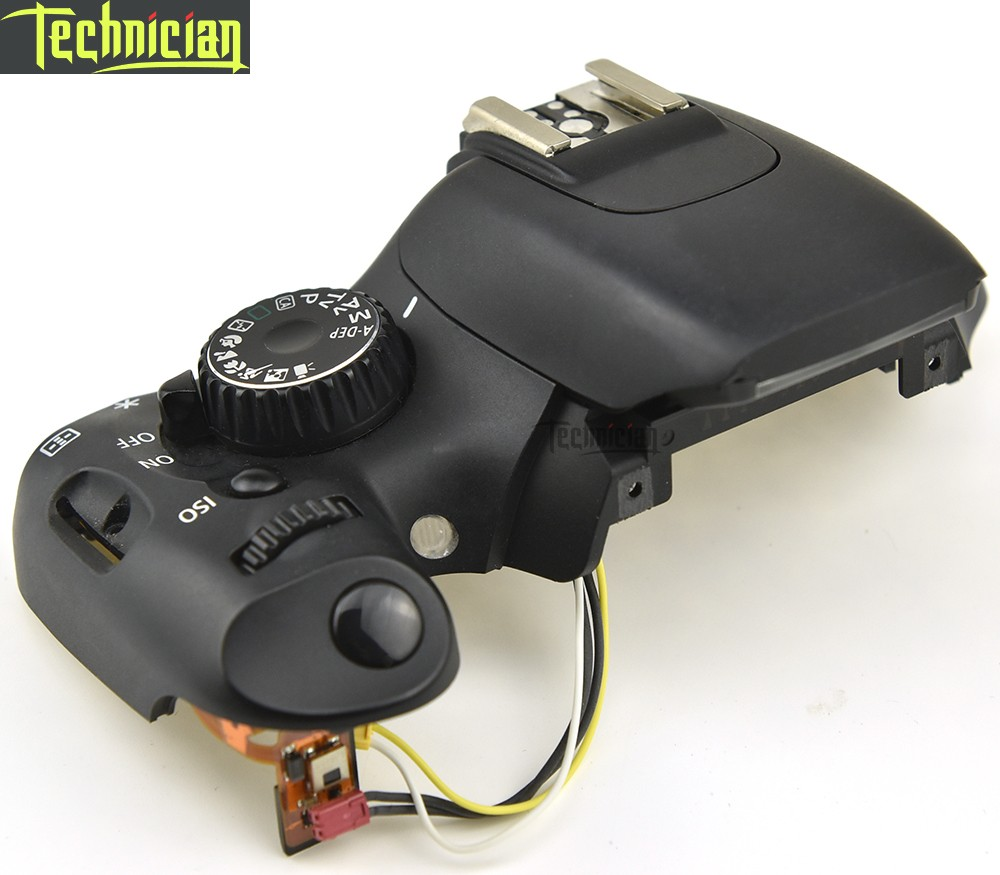 550D Top Cover Assy With Mode Dial Power Switch Button and Cable Camera Repair Part For Canon in Body Parts from Consumer Electronics