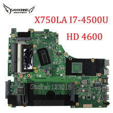 Original for ASUS X750LA Laptop motherboard X750LA mainboard REV 2.0 with i7 4500U Integrated Intel HD Graphics 4600 100% Tested