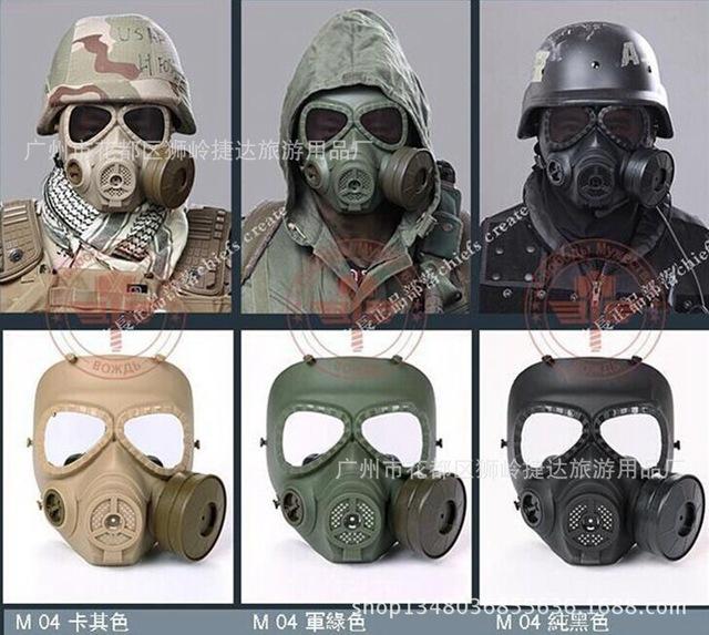 Genuine fã M04 anti-fog versão melhorada da quarta geração do esqueleto máscaras cs máscara protetora