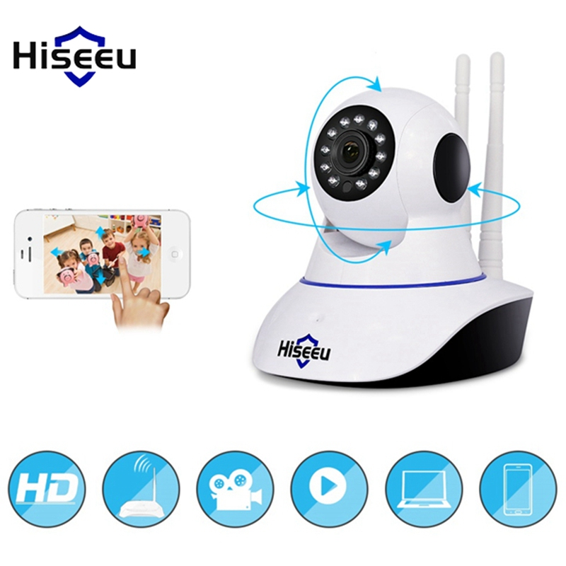 Hiseeu FH1C 1080P 2.0MP IP Camera WiFi Night Vision CCTV Baby Monitor Home Security Surveillance Camera Motion Detection: