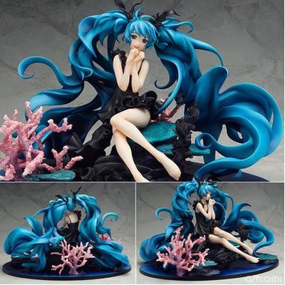 1pcs Vocaloid Hatsune Miku Deep Sea PVC Action Figure Model Collection Toy retail vocaloid 3 hatsune miku kaito cosplay shoes anime boots