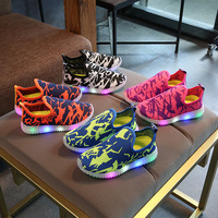 2017 New Spring Summer Cool Sneakers Toddler First Walkers Hot Sales Lighting LED Kids Shoes Fashion